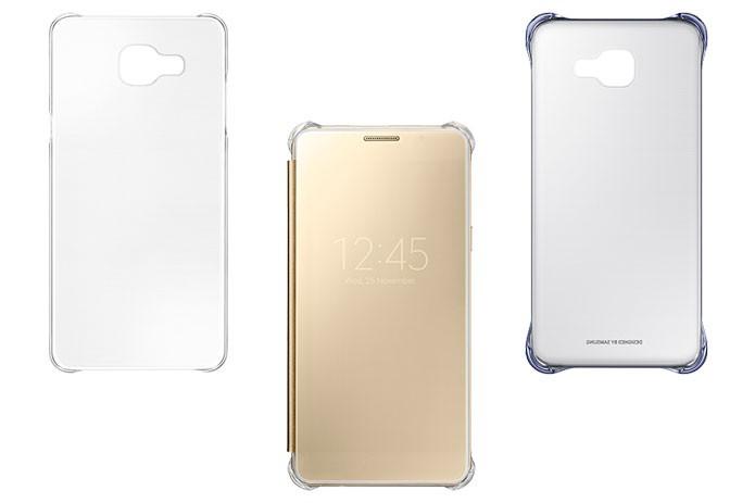Capas Protetoras Slim, Clear View e Clear, respectivamente, são acessórios da Samsung para Galaxy A5 e A7 (Foto: Divulgação/Samsung)