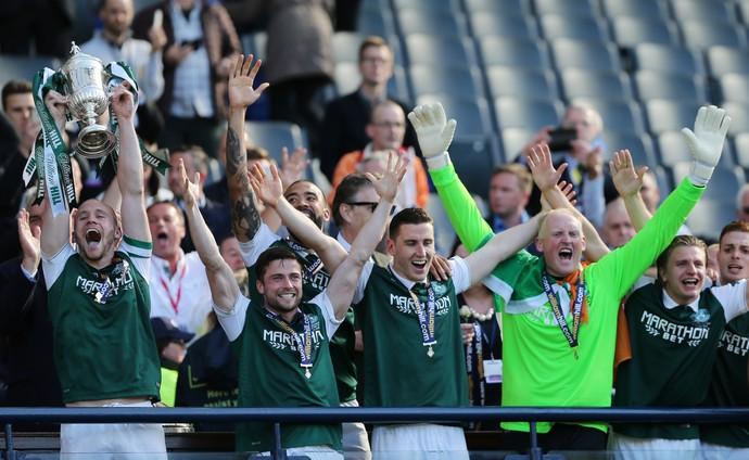 David Gray Hibernian x Rangers final da Copa da Escócia (Foto: Reuters)