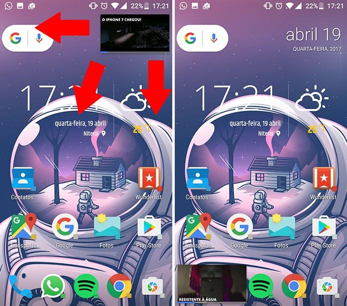 Arraste o player do Facebook para um dos cantos da tela para movê-lo (Foto: Reprodução/Elson de Souza)