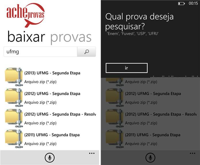 AcheProvas disponibiliza gratuitamente provas do Enem e universidades públicas e privadas do Brasil para o seu Windows Phone (Foto: Divulgação/Windows Phone Store)