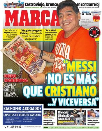 Maradona capa do Marca (Foto: Reprodução / Marca)