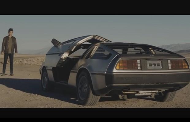 DeLorean em novo comercial (Foto: Reprodução)