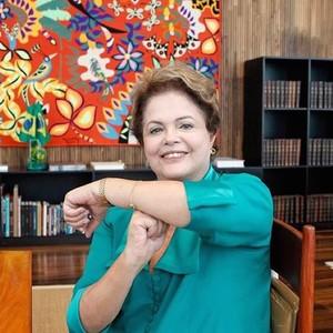 Dilma Rousseff - presidente adere ao 'é thois'  (Foto: Reprodução Instagram)