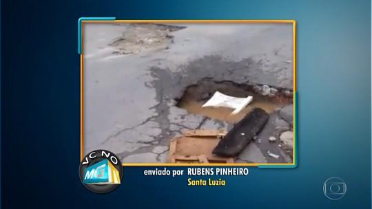 Morador reclama de buraco em avenida de Sete Lagoas