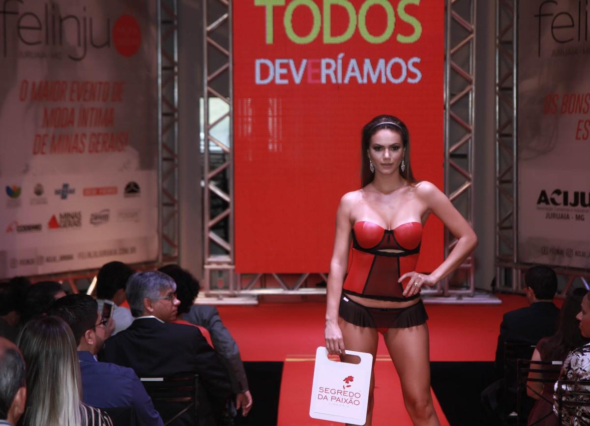 0a1463768 Felinju 2017  veja os desfiles da feira de lingerie em Juruaia  FOTOS  Globo.com. Começou neste sábado (29) e vai até a próxima segunda-feira (1º)  a 20ª ...