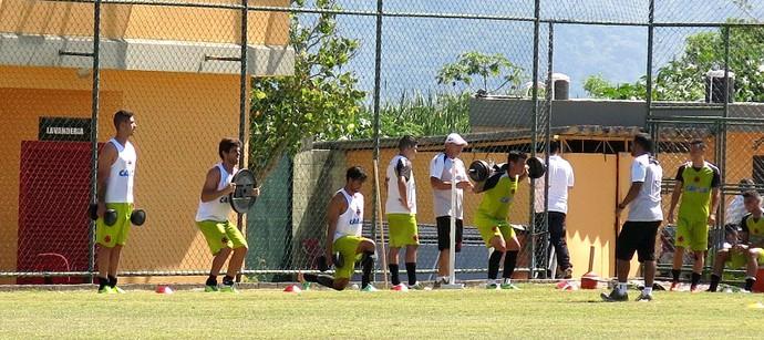 jogadores vasco musculação (Foto: Raphael Zarko)