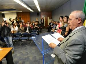 O presidente da Sanasa, Arly de Lara Romêo, em Campinas (Foto: Carlos Bassan / Prefeitura de Campinas)