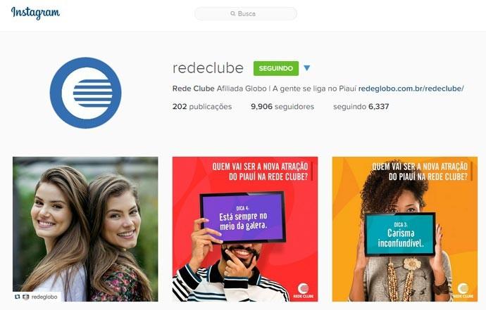 Perfil da Rede Clube no Instagram também traz muitas fotos e curiosidades do Programão (Foto: reprodução)