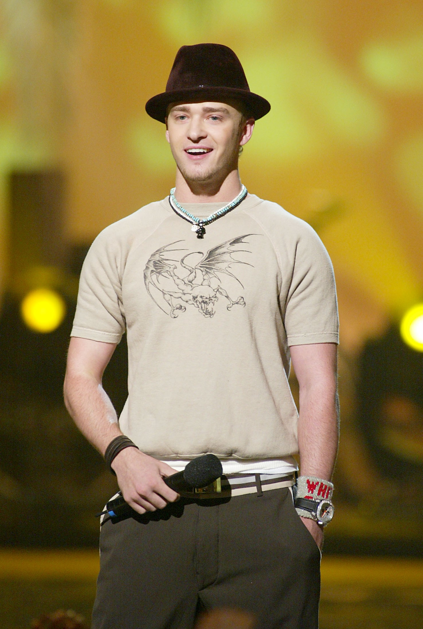 Justin Timberlake at the Teen Choice Awards 2002 held at the Universal Amphitheatre in Los Angeles, Ca., August 4, 2002.  (photo by Kevin Winter/Getty Images/Fox) (Foto: Getty Images)