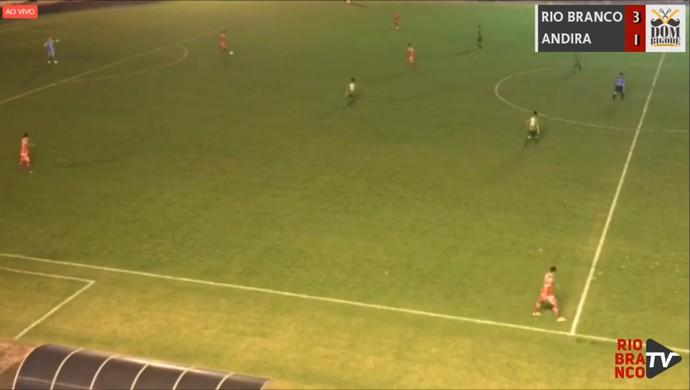 Transmissão Rio Branco-AC x Andirá Campeonato Acreano (Foto: Reprodução/Rio Branco TV)