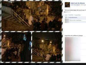 Baile funk no Alemão (Foto: Reprodução/Facebook)