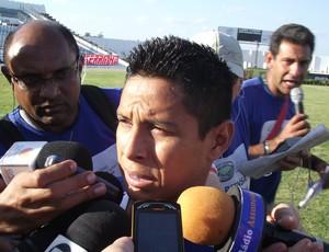 Cléo, atacante do Fortaleza em Campina Grande (Foto: Silas Batista / globoesporte.com/pb)