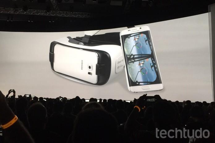 1cc89e722e54f Samsung Unpacked (Foto  Isadora Díaz TechTudo) Gear VR Innovator Edition  funcionará com Galaxy ...