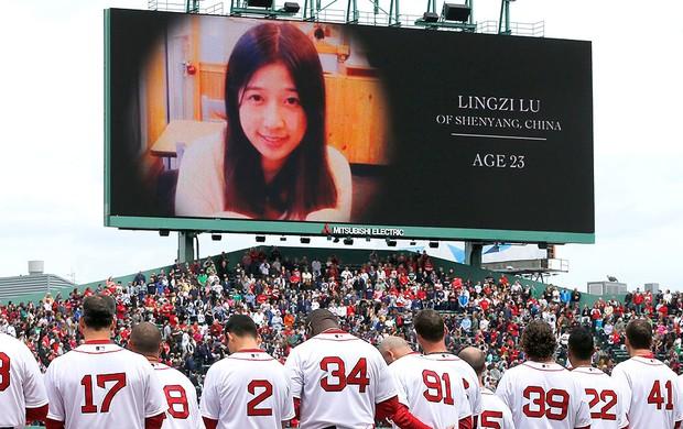 beisebol jogadores Boston Red Sox jogo homenagem (Foto: AP)