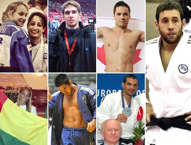 Montagem judocas naturalizados (Foto: Editoria de Arte)