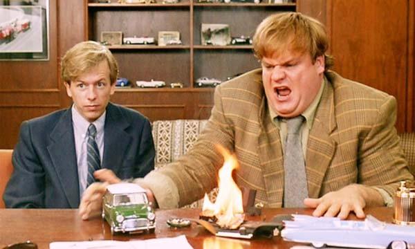 Chris Farley e David Spade (Foto: .)
