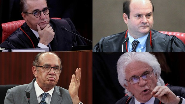 Ministros do TSE que salvaram a chapa Dilma Temer da cassação