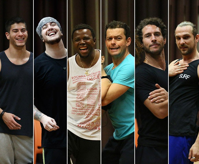 Confira os primeiros ensaios de Arthur Aguiar, Bruno Boncini, Érico Brás, Fernando Rocha, Flávio Canto e Igor Rickli  (Foto: Isabella Pinheiro/ Gshow)