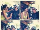 Mariana Rios e Di Ferrero posam juntos para fotos