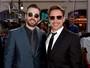Chris Evans e Robert Downey Jr. vão à première de 'Capitão América'