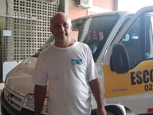 'Estamos transportando seres humanos', diz motorista de transporte escolar (Foto: Jorge Machado/G1)