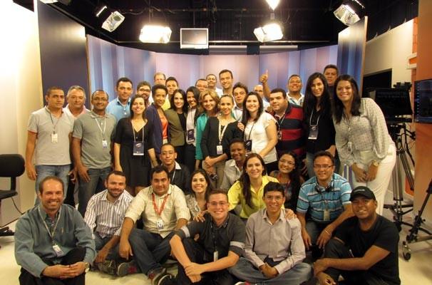 Equipe com quase 50 funcionários trabalharam no debate promovido pela Rede Clube (Foto: Katylenin França/TV Clube)