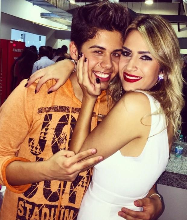 Jéssica Costa com o irmão Zé Felipe (Foto: Arquivo Pessoal)