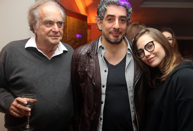 Arnaldo Jabor, Michel Melamed e Letícia Colin (Foto: Eny Miranda)