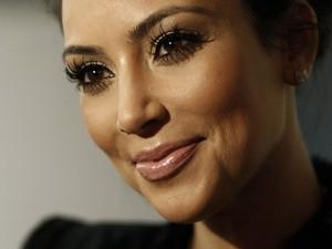 A socialite e estrela de reality show Kim Kardashian (Foto: AP)