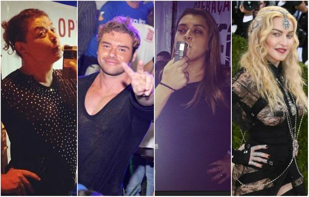 David Brazil, Thor Batista, Preta Gil e Madonna (Foto: Reprodução)