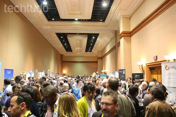 CES Unveiled, Las Vegas, lotada de jornalistas; vem aí muita novidade (Foto: Fabrício Vitorino / TechTudo)