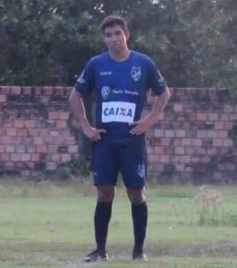 Matheus Tomaz, atacante do São Raimundo-RR Sub-20 no Roraimense de 2016 (Foto: Divulgação/SREC)