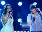 Decotada, Paula Fernandes canta com Michel Teló em gravação de DVD