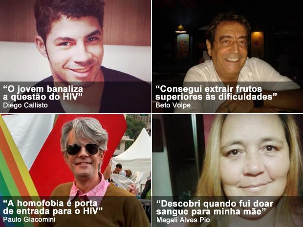O G1 conversou com pessoas de diferentes perfis que vivem com HIV no Brasil atualmente (Foto: Arquivo Pessoal)