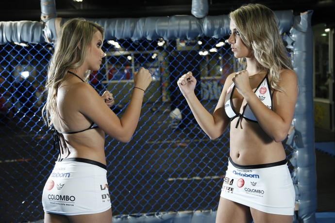 Amanda e Andressa, ring girls do Jungle Fight (Foto: divulgação/Jungle Fight)