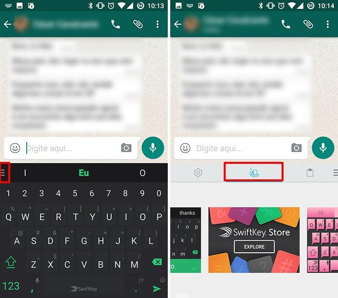 SwiftKey traz atalho para temas no próprio teclado do Android (Foto: Reprodução/Elson de Souza)