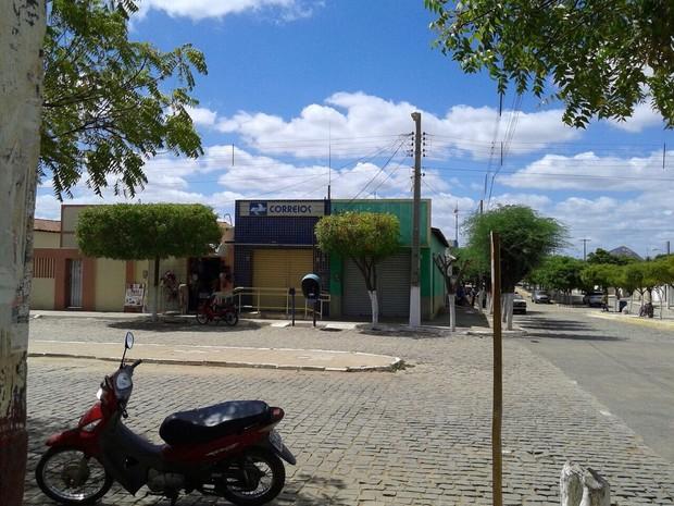 Agência dos Correios assaltada fica no município de Messias Targino, RN (Foto: Josimar Dantas/G1)