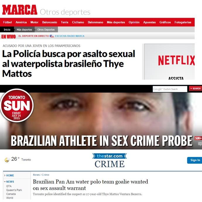 """O espanhol """"Marca"""" e jornais canadenses também deram destaque ao assunto (Foto: Reprodução)"""