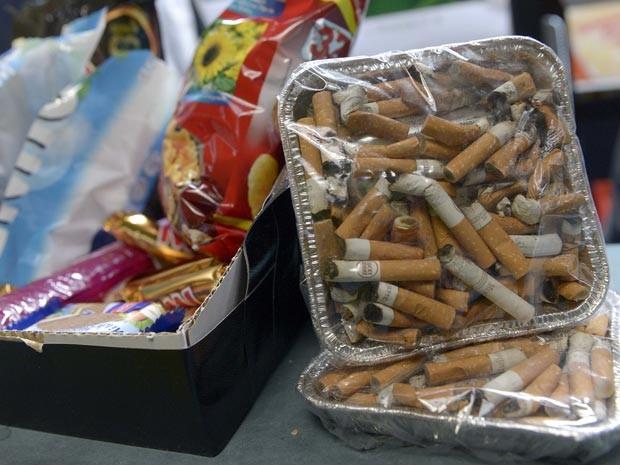 Cigarros são expostos em 'Museu sobre o ser humano' em Hamburg, na Alemanha. (Foto: Reuters)