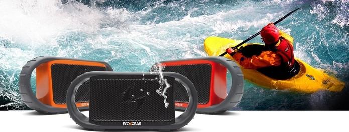 Caixa de som Bluetooth para caiaques e jet ski (Foto: Divulgação/EcoXBT)