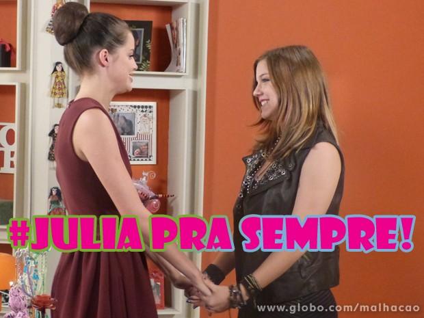 BFFs pra sempre <3 (Foto: Malhação / Tv Globo)