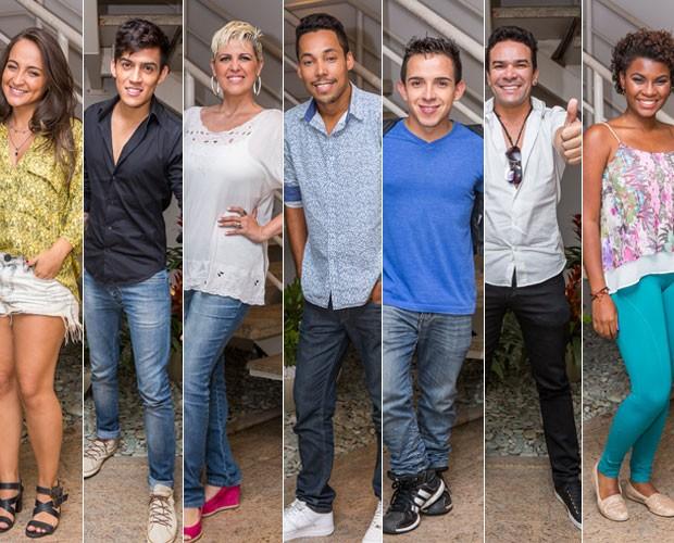 Bárbara Dias, Jefferson Moraes, Naíma, Kiell Cavalcanti, Matheus Max, Felipe Duran e Ester Freitas (Foto: Artur Meninea/ Gshow)