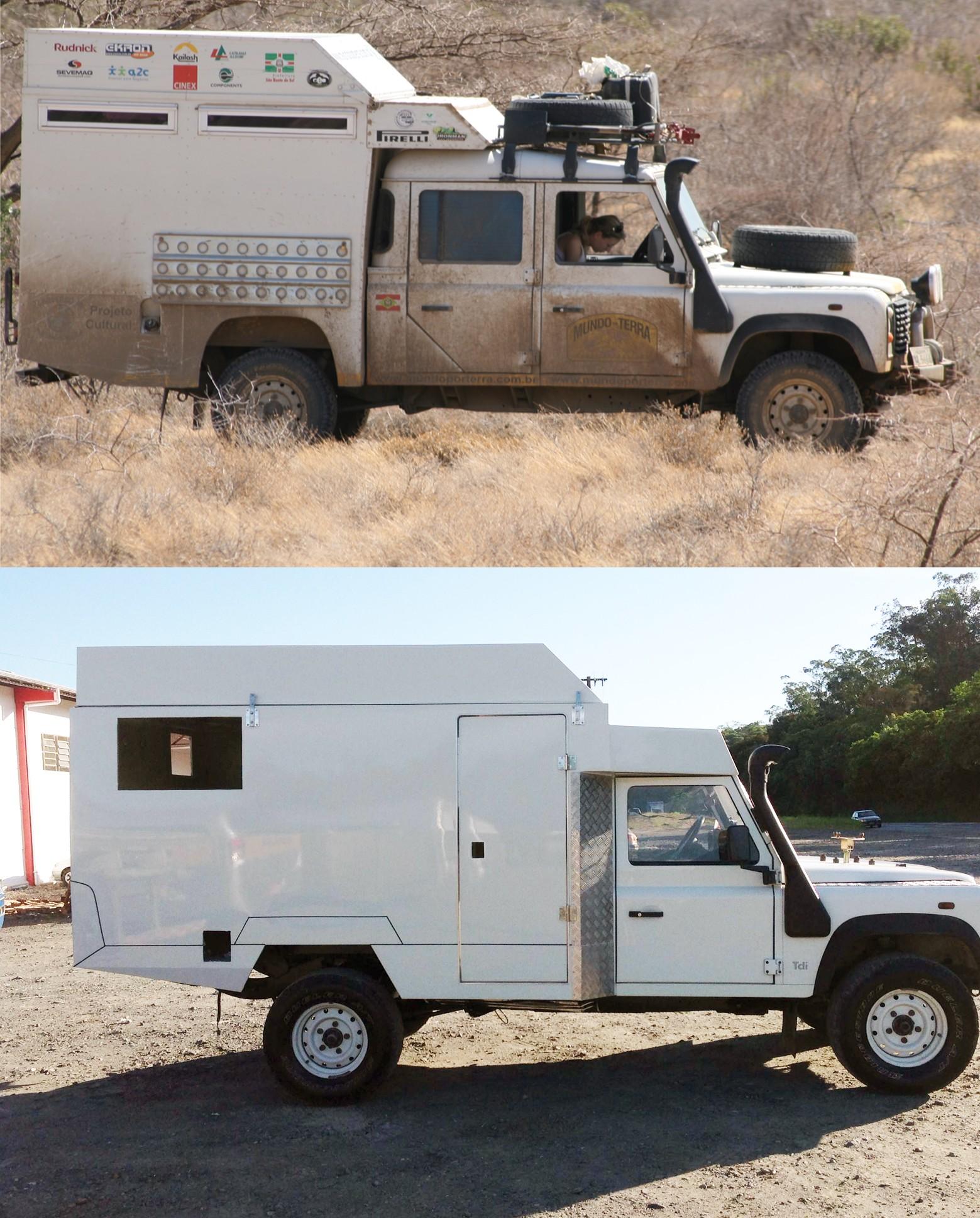 Veículo usado na primeira expedição foi trocado e adaptado (Foto: Roy Rudnick/Arquivo Pessoal)