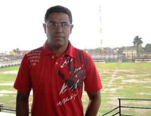 Wagner dos Anjos é o novo técnico do São Vicentw (Foto: Lincoln Chaves / GloboEsporte.com)