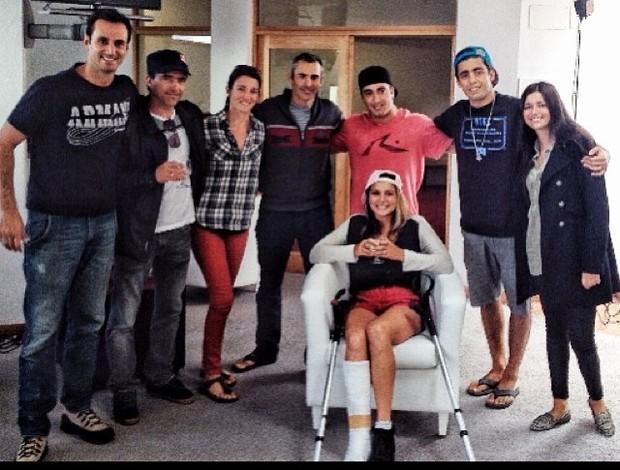 maya gabeira hospital pé quebrado portugal surfe (Foto: reprodução instagram)
