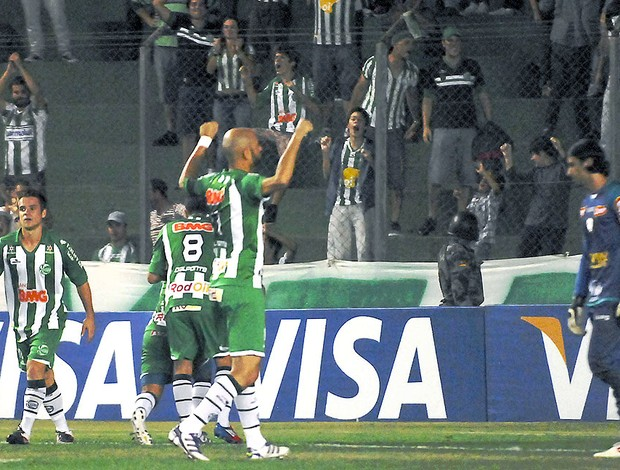 Jonatas Belusso comemora gol do Juventude contra a Portuguesa (Foto: Gilmar Gomes / Futura Press)
