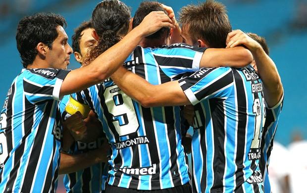Comemoração do Grêmio contra o Vasco (Foto: Lucas Uebel / Grêmio FBPA)