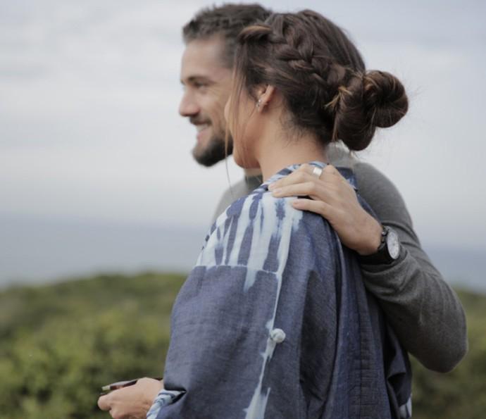 Coque preso com trança (Foto: Lydio Cerqueira/Gshow)