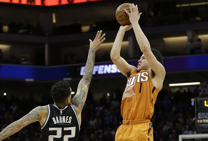 Devin Booker Phoenix Suns x Sacramento Kings (Foto: AP)
