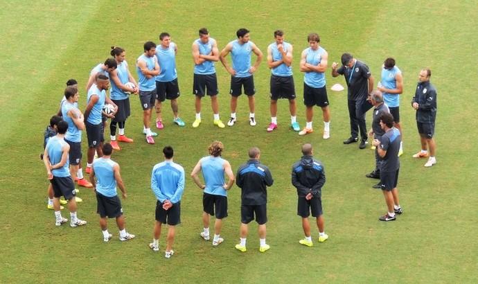 uruguai treino arena das dunas natal (Foto: Lucas Rizzatti/GloboEsporte.com)